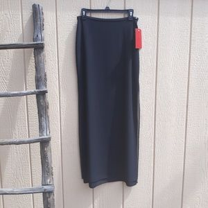 JS Collections NWT Black Maxi Double Slit Skirt